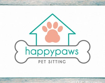 Grooming Logo Design, Custom Logo, Dog Logo, Business Logo, Logo for Groomers, Pet Sitting Logo, Premade Logo Design, Custom Logo