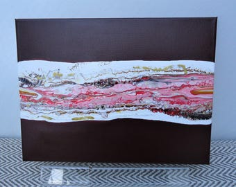 Abstract Acrylic, Burgundy 1