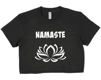 Crop top, namaste crop top, yoga clothing, meditation, yogawear, bestfriend gift