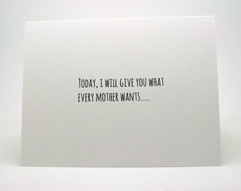 Funny Mother's Day Card- Funny Mom Birthday Card