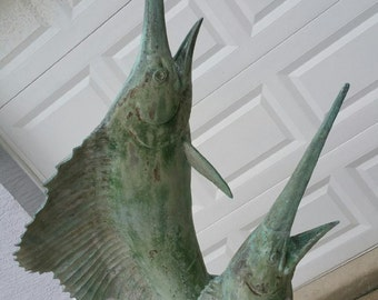 Brass Marlin Statue