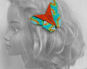 origami butterfly, hair clip