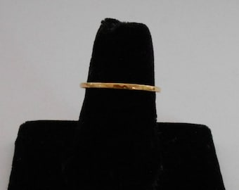 14k Gold Band, Solid 14k Yellow Gold band, 14k Wedding Band, 14k Hammered Gold Stacking Ring,Gold Promise Ring , 14k Gold Minimalist Ring,