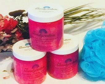 Black Raspberry Sugar Scrub | Body Sugar Scrub, Exfoliating Sugar Scrub, Handmade Sugar Scrub, Natural Skin Care