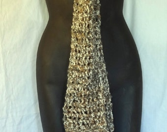 Mans Oversize Brown Scarf Extra Long 110x5 Chunky Super Steampunk Bohemian Trending Gift, Womans, Fashion, Woodsy, Retro, Spring, Easter