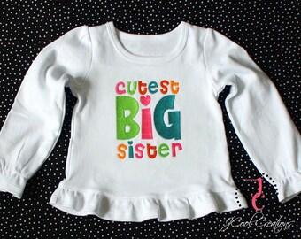 Big Sister Shirt or Dress - Big Sister Gift, Big Sister Dress, Big Sister Announcement, Sibling Outfits, Big Sister Little, Sibling Outfits