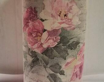 Chalk paint and Decopauge rose vase