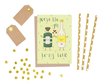 gin-gin and tonic-birthday card-happy birthday-gift for her-gift for him-boyfriend card-card for boyfriend-card girlfriend-boyfriend-cards