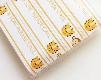 SALE : BLANK Vinyl Zoo ID Bracelets - #Kids #Travel #Safety #Medical - Set of 14