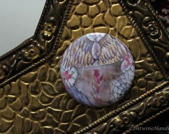 Witches Cauldron Compact Pocket Mirror with Velvet Bag Original Artwork