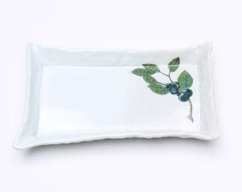 Handmade Porcelain Tray - Blueberry