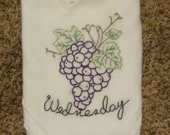 Hand Embroidered Flour Sack Towel