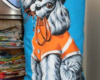 Vintage Poodle Tea Towel Cushion