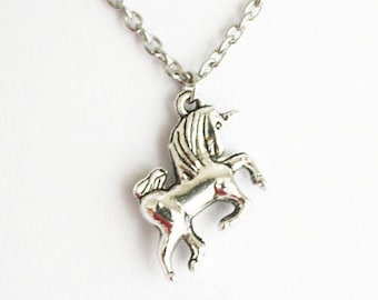 Unicorn Necklace, Horse Necklace, Fairytale Fantasy Jewelry, Princess Necklace, My Little Pony, BFF Friend Gift, Gift For A Girl