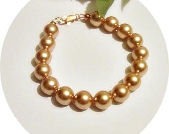 Rose Gold Bracelet, Rose Gold Pearl Bracelet, Wedding Jewelry, Bridesmaid Bracelet, Bridal Jewelry, Pearls Rose Gold, Pearl Rose Gold