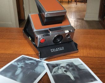 Polaroid SX-70 (Model 1) Professionally Refurbished, with Film, Flash Bars, Literature, and Leather Bag Instant Analog Photography