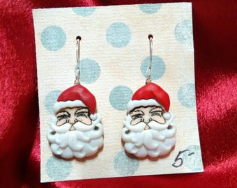 Christmas earrings Christmas jewelry Christmas accessories Santa Claus gifts for her gifts under 10 inexpensive gifts stocking stuffers