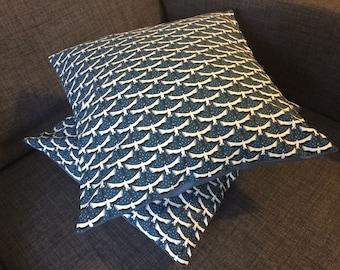 Blue Bird pillow cover