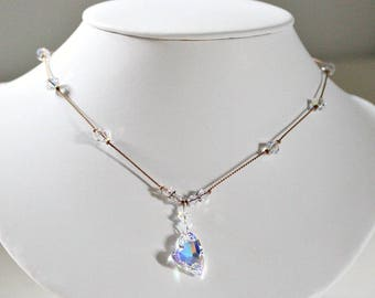 Special Gift,For Daughter,Valentine Gift,For Her,For Wife,Swarovski Heart,Necklace,Crystal Anniversary,Gift,For Wife,Romantic Gift,For Her