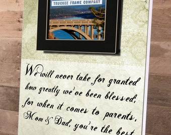 Parents of the Groom Gift, Mother of the Groom, Father of the Groom, Parents Thank You Gift, Wedding, Personalized Picture Frame 14x19