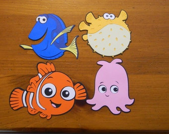 Finding Nemo Paper Die Cuts - Set of 4