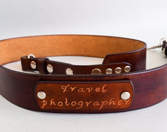 Personalized Leather Camera Strap, Custom Camera Strap Leather, Nikon Camera Strap, Canon Camera Strap, Personalized DSLR Camera Strap