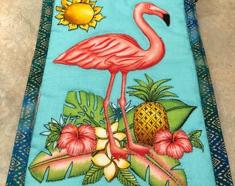 Flamingo Cross Body Cell Phone Pocket/Pouch