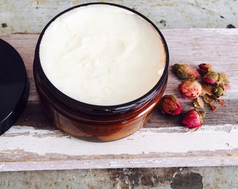 Body Butter. Whipped. Body Cream. Blends: Geranium + Palmarosa or Vanilla + Grapefruit. Luxurious. Healing.  Naturally Moisturizing