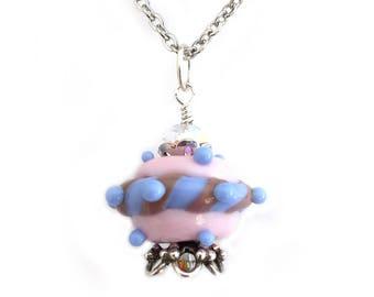 UFO Lampwork Pendant Science Fiction Necklace Nerdy Gifts