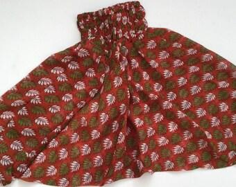 Baby Ali Baba Pants - brown leaves
