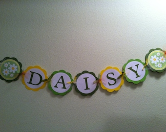 Daisy Name Banner