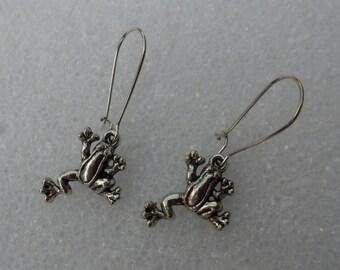 Frog Is An Acronym = Fully Rely On God! Christian Earrings! Nice Earrings! Frog Earrings! Handmade & One Of A Kind Earrings! On Sale Now!
