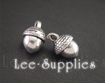 30pcs Antique Silver Acorn Charms Pendant A2024