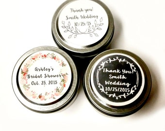 100 Wedding Favor 2 oz Candles | 100 Favors | Rustic Favor | Wedding Candle Favor | Custom Wedding Favor | Baby Shower Favor | Custom Favors