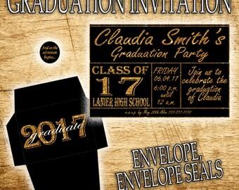 Printable Graduation Party, Graduation Invitation, Graduation Birthday Invitation, Printable Invitation, Graduation Decorations