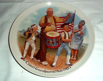 Knowles Collectors' Plate by Joseph Csatari The Patriots' Parade / Grandparent Series / Limited and Numbered