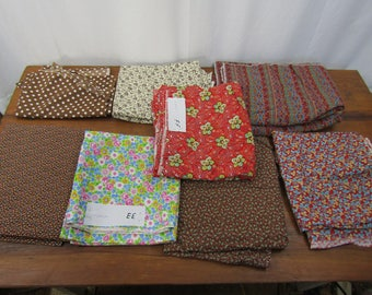 Large lot of vintage fabric 1980s quilt weights 20 yards total