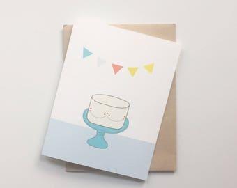 Birthday boy cake card - Spring Cleaning Sale