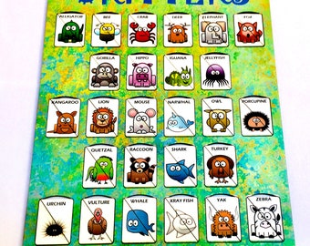 A-Z Animals Alphabet Matching Games | Critters