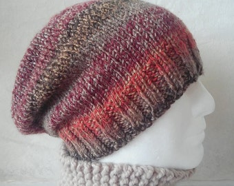 KNITTING PATTERN/ CHARLEY /Mans Slouch Beanie- Easy/ Knit Round/Simple Modern Mans Beanie/Mans Slouchy Hat/ Slouch Hat Pattern/Aran Worsted
