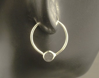 Sleeper Hoops / Little Silver Hoop Earrings / Sterling Silver Hoops / Argentium - Customize to Your Size - Seamless Endless Catchless Hoops
