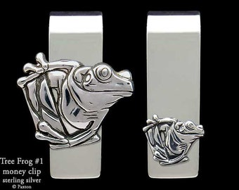 Tree Frog Money Clip Sterling Silver
