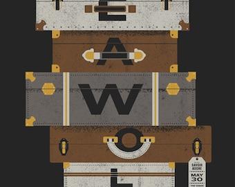 Sea Wolf, screen print Gig Poster
