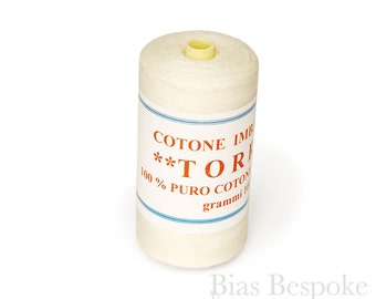 TORRE 100% Cotton Basting Thread, Made in Italy