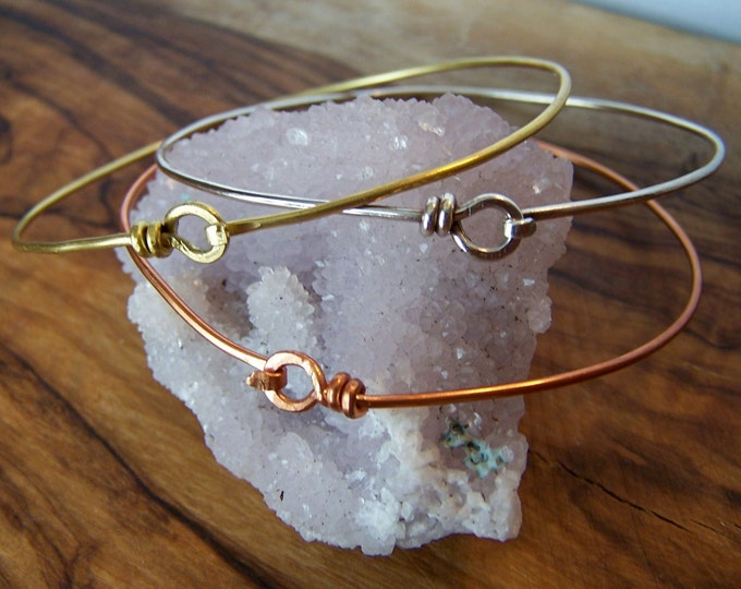 Clearance Sale: **READY TO SHIP** Simple Latch Bangle. Choose your finish.