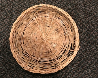 Vintage Wicker Round Baskets/Charger Plates