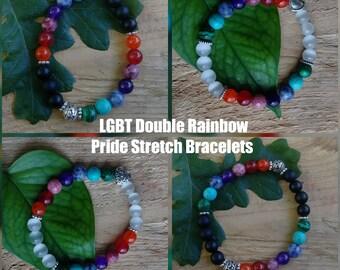 Pride Jewelry,Pride Bracelet,Jewelry,Bracelets,LGBT Pride,LGBT Pride Bracelet,Lesbian Gift,Gay Gift, LGBTQ Gift,Loud and Proud,Love Wins