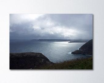 Ocean Canvas Art, Newfoundland Photography, Landscape Canvas Art, Large Wall Art, Canada Art, Storm Art, Cape Spear Art, Cabot Tower Art