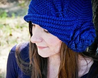 Crochet Hat PATTERN: Cloche Hat Pattern, 1920s Hats, Vintage Hat Patterns, Cloche Hat, Charleston Hat, Flapper Hat, WeeYarn