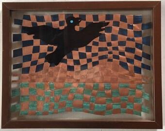 "Beautiful Blackbird / 11x14"""